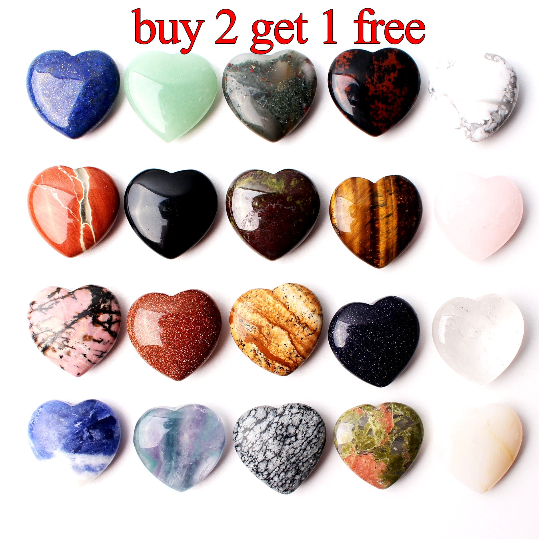 Pretty Hematite Heart Pendant Necklace Ladies Gift Reiki Healing Crystal Stone