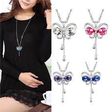 butterfly, Chain Necklace, Fashion, tasselsnecklace