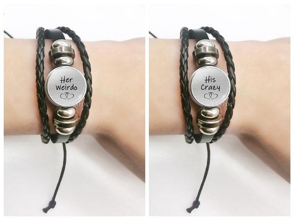 Charm Bracelet, black bracelet, herweirdo, Fashion