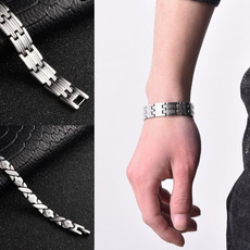 Charm Bracelet, Steel, Jewelry, mensbangle