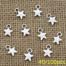 smallstar, Antique, antiquesilvercharm, Star