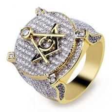 goldplated, masonic, DIAMOND, wedding ring