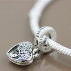Charm Bracelet, Charm Jewelry, Love, sterling silver
