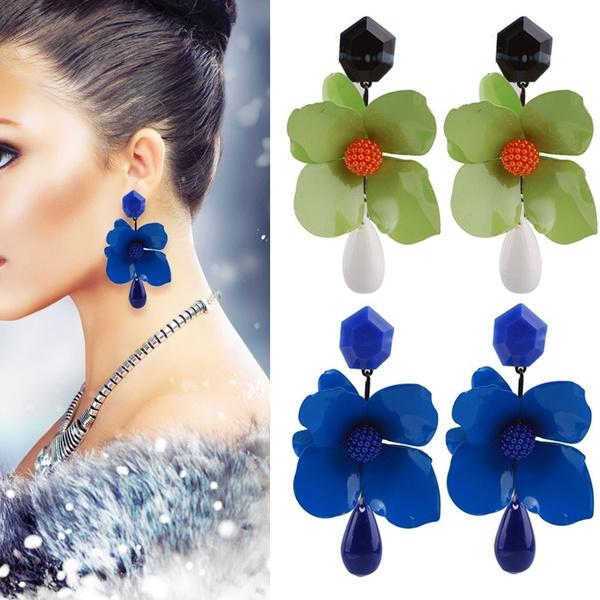 Flowers, Dangle Earring, Jewelry, women earrings
