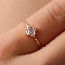 DIAMOND, 925 silver rings, Simple, simplering
