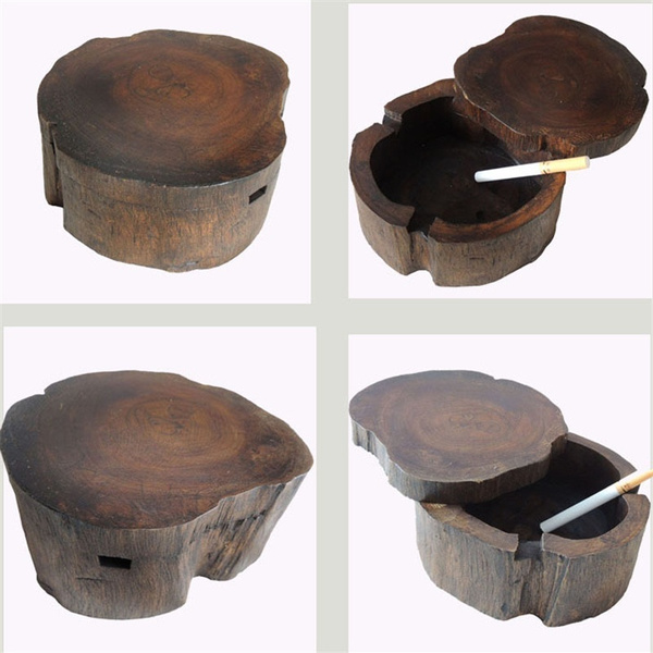 homeampoffice, ashtray, Wooden, Vintage