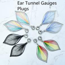 Steel, gaugeearring, Fashion, leaf