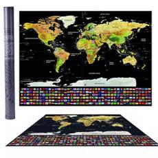 Map, worldmap, countryflag, Posters