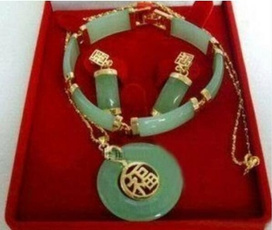 Set, Jewelry, jade, Bracelet