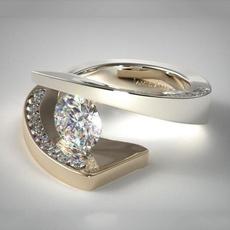 Sterling, DIAMOND, bague, Wedding