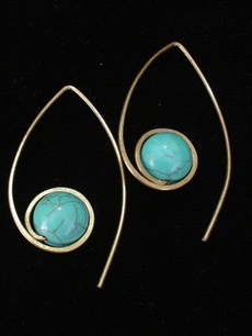 Sterling, Blues, Turquoise, Dangle Earring