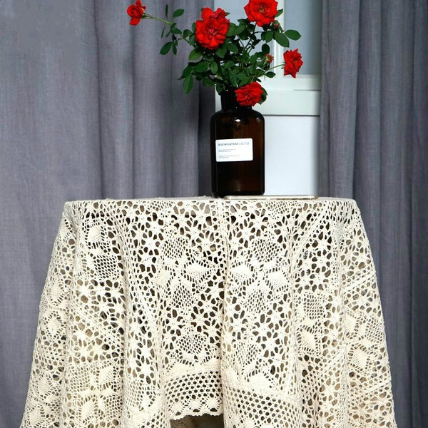 squarelacetablecloth, pastorallacetablecloth, Lace, lacetablecloth