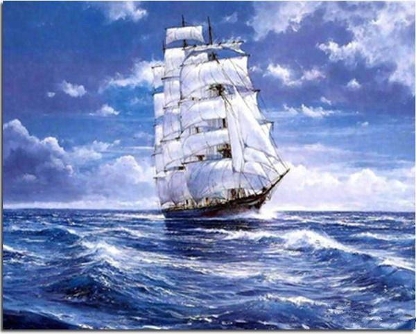 segeln, diamant, stickerei, auf
