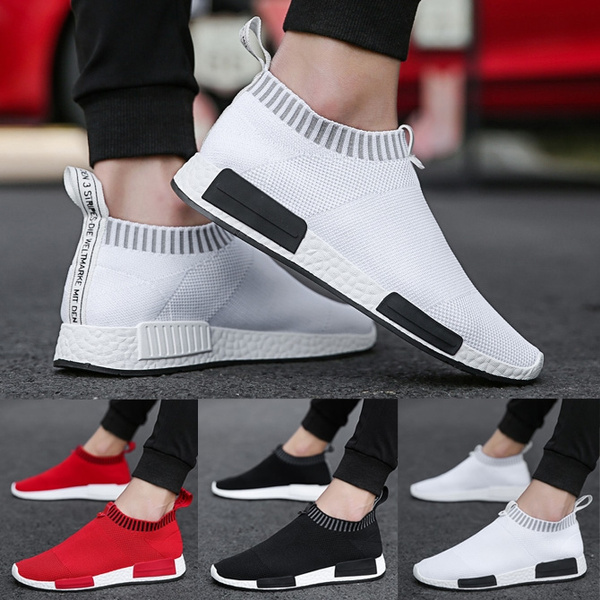 Mens Casual Sport White Running Shoes