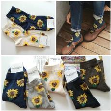 Plants, Cotton Socks, wintersock, casualsock