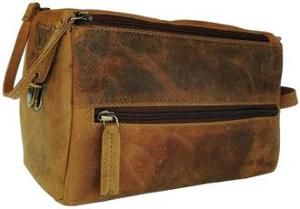 case, leathertoiletrybag, Canvas, Men's Fashion