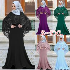 Plus Size, Lace, Sleeve, Elegant