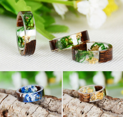 craftring, crystal ring, wedding ring, woodring