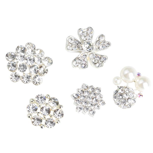 sewingknittingsupplie, diamantebutton, Flowers, Classics
