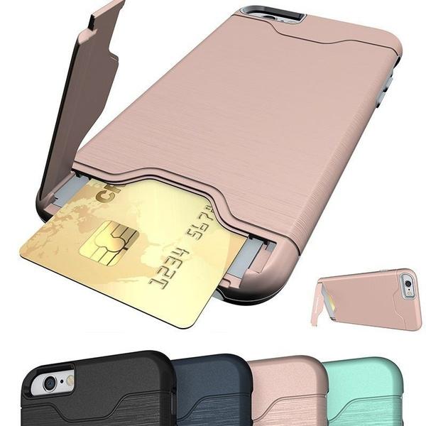 IPhone Accessories, duallayercase, cardslotsholdercase, kickstandcase