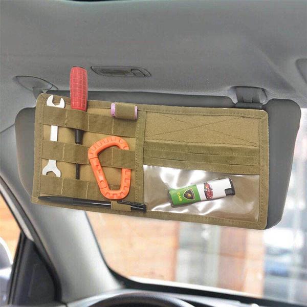 Tactical Vehicle Visor Panel Pouch Molle Car Sun Visor Holder Organizer Cd Bag Pouch Wish