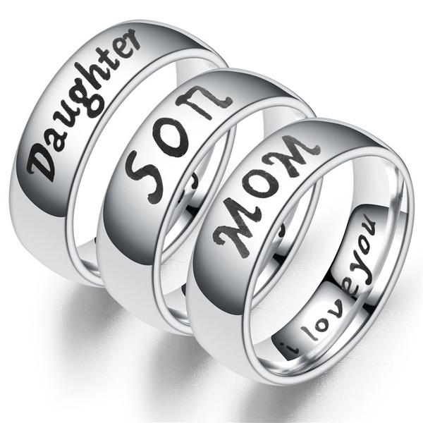 Steel, Women Ring, Family, Silver Ring