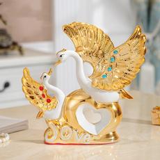 creativedecoration, swan, Ornament, ceramicornament