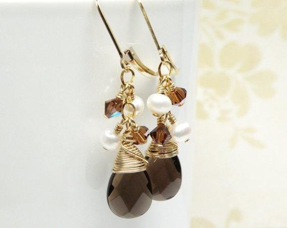 brown, Coffee, quartz, Jewelry