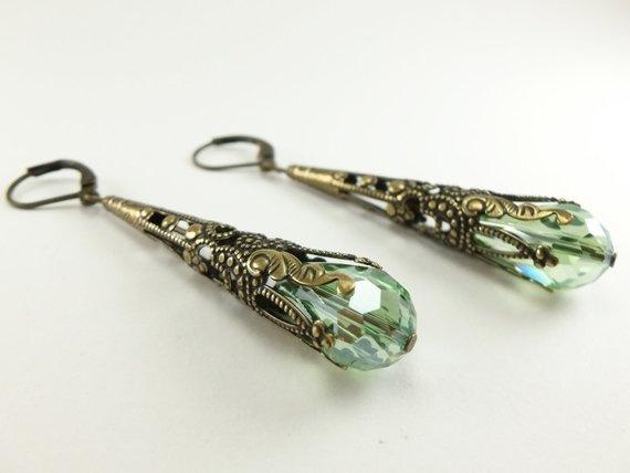 Brass, brassearring, Dangle Earring, Jewelry