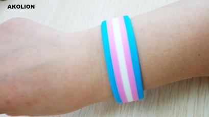 rainbow, gaypride, pansexualbracelet, Silicone