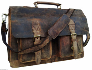 Briefcase, Office, mensleathersatchelmessengerbag, leather