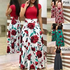 Fashion, short dress, Sleeve, women dresses
