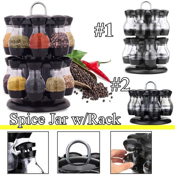 Bottle, kitchen tools, grinder, rotatingspicerack