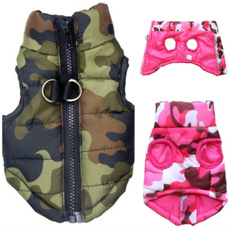 Moda, Invierno, camouflageprint, petdowncoat