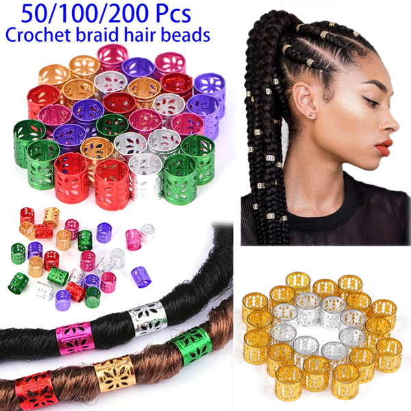 Hair Braiding Bead Dreadlock Ring Beads Adjustable Hair Braid Cuff Clips Makeup Beauty Hair Tools Headbands Bows Clips Accessories Wish