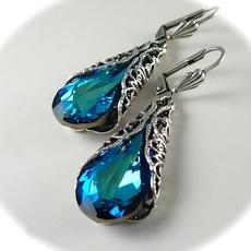 Blues, peacock, Fashion Accessory, Hoop Earring