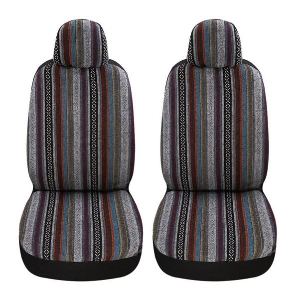 Universal Stripe Colorful Baja Front, Baja Car Seat Covers