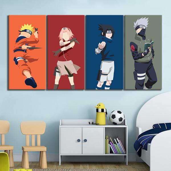 sasukeuchiha, uzumakinaruto, Wall Art, Home Decor