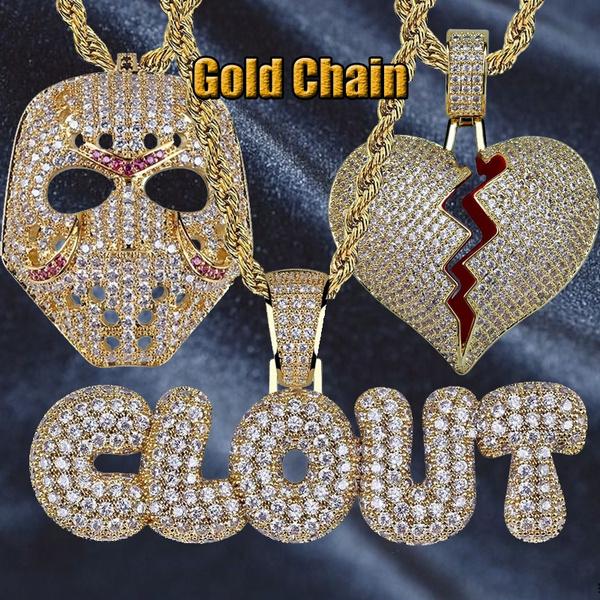 microzirconnecklace, hip hop jewelry, masknecklace, Jewelry