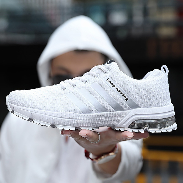 2018 New Fashion Men's/Wonmen's Casual Air Cushion Shoes Running Sport Shoes Man/Wonmen Breathable Flats Shoes/2018 Nouvelle Mode Hommes/Femmes Casual ...
