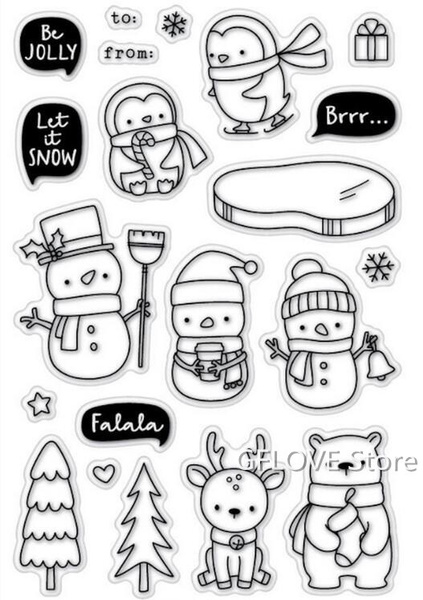 girlstamp, herostamp, Winter, Stamps