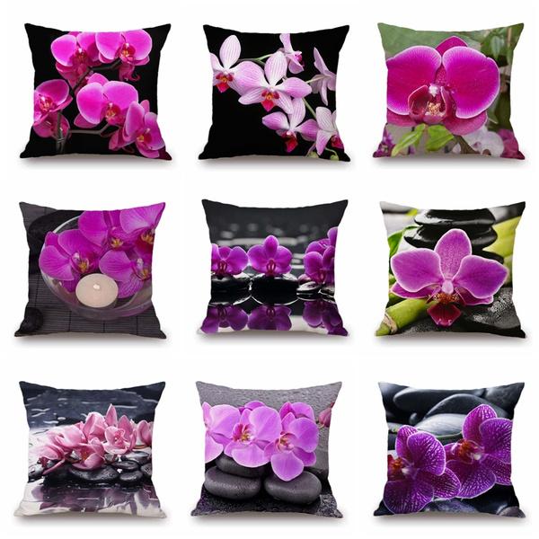 Beautiful, Home Decor, linenpillowcover, plantflower