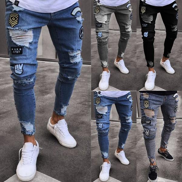 bluejeansformen, Unique, Fashion, rippedjeanspant