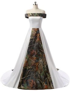 strapless, Dress, camouflage, t