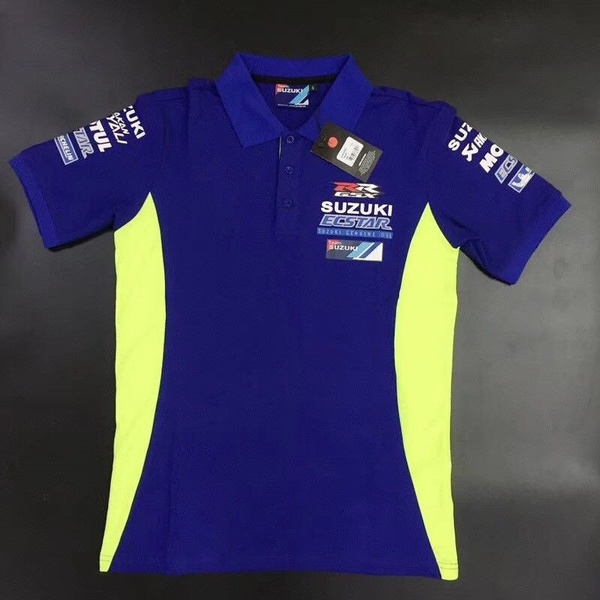 Motogp Polo Shirt Gsx R Men S Short Sleeve Motorcycle T Shirts For Suzuki Racing Team Summer Casual Blue Polo Shirt Wish