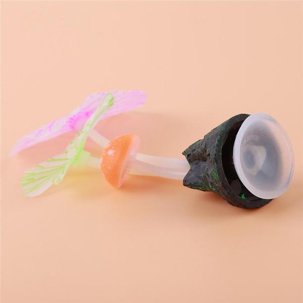decorfishtank, aquariumdecor, Mushroom, lotusleaf