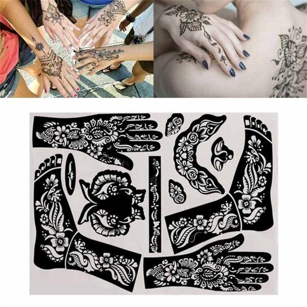 bodypainting, hennakit, stencil, airbrush