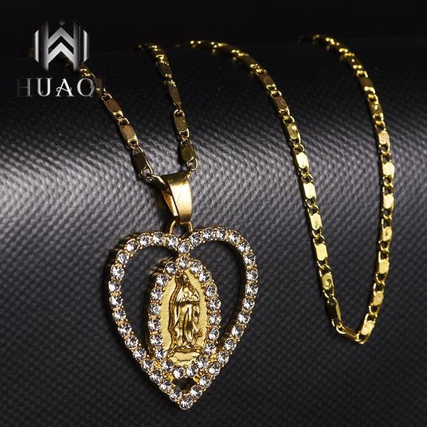 virginmarynecklace, Heart, Holiday, Jewelry