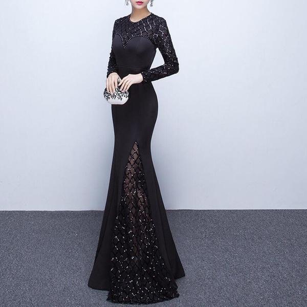 Fashion, Lace, long dress, Dress