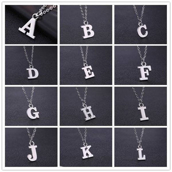 Valentines Gifts, Jewelry, alphabet, letternecklace